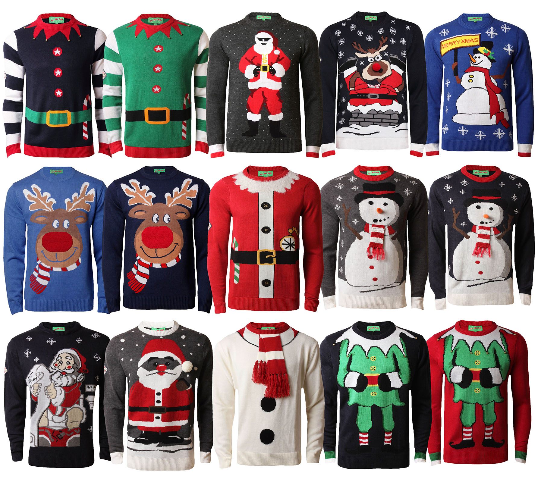 Novelty Christmas Jumpers Knitting Pattern : Christmas jumpers new novelty d xmas knit hohoho santa