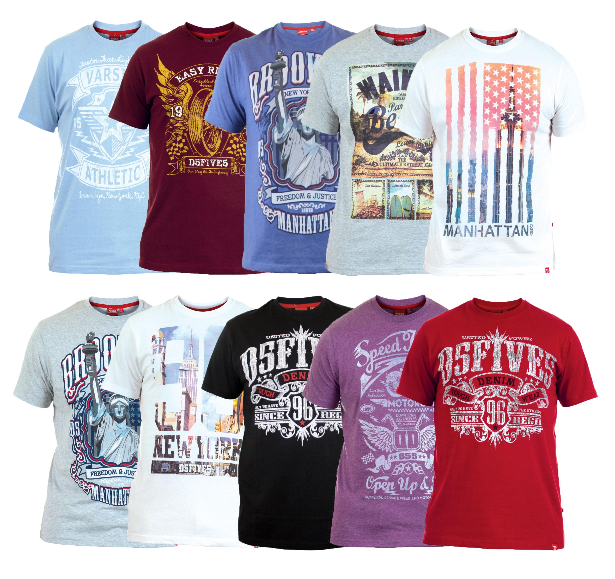 D555 New Men S Photo Print Cotton T Shirt Graphic Printed