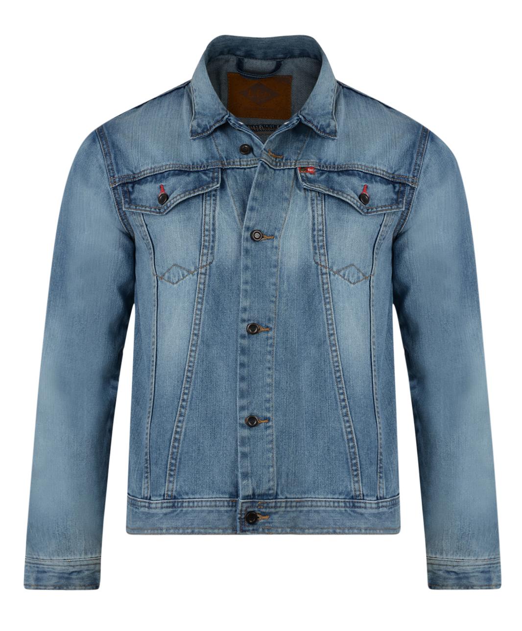 Lee Cooper New Mens Denim Jacket Vintage Light Blue Retro Trucker Jean Jackets | eBay